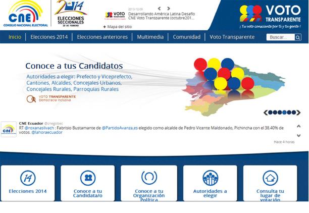 Figura 1. Captura del portal Voto Transparente